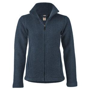 Damen Fleece-Jacke tailliert Bio-Schurwolle - Engel natur