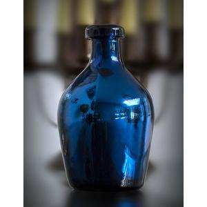 Dekovase Espejo blau silber | Blumenvase  - Mitienda Shop