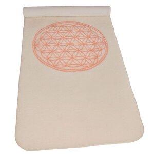 Yogamatte aus Schurwolle Blume des Lebens - The Spirit of OM