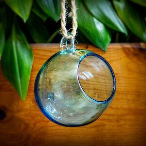 Dekovase Esfera aqua | Blumenvase ca. 15cm ø (optional mit Gestell) - Mitienda Shop