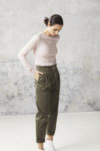 Paperbag-Hose aus Bio-Baumwolle (GOTS) von minu by LANA - Lana naturalwear