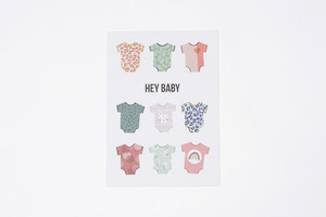 "Postkarte ""Hey Baby"" - Julia Klein Designs"