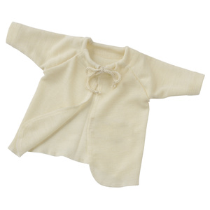 Baby/Frühchen Flügelhemd Bio-Wolle/Seide - Engel natur
