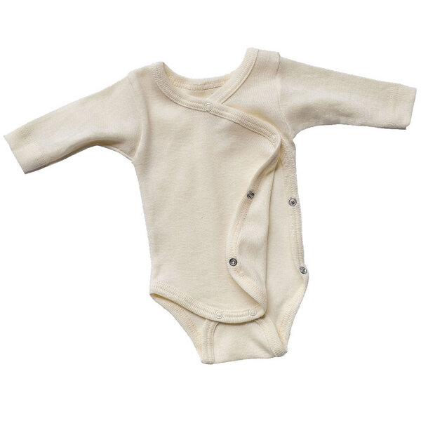 Baby/frühchen Wickelbody Langarm Bio-schurwolle/seide