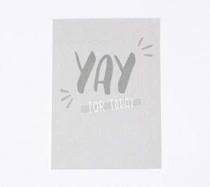 "Postkarte ""Yay for Today"" - Julia Klein Designs"