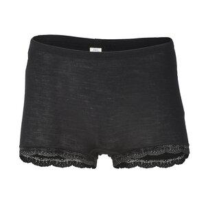 Damen Pants mit Spitzenabschluss Bio-Schurwolle/Seide - Engel natur