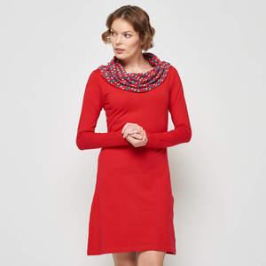 Tranquillo Frauen Jersey Kragen Kleid - TRANQUILLO