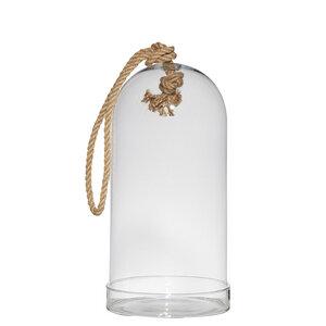Windlicht Glocke mit Glasteller H 32cm - Mitienda Shop