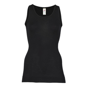 Damen Longshirt ohne Arm Bio-Schurwolle/Seide - Engel natur