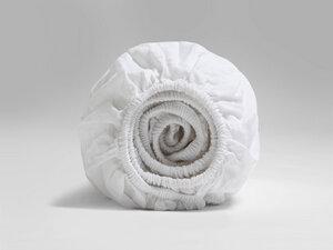 Spannbettlaken Gewaschen Baumwollsatin - Yumeko