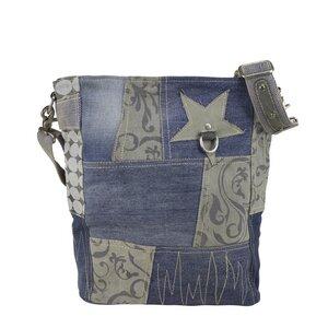 Sunsa Jeans Umhängetasche Patchwork (recycled) - Sunsa