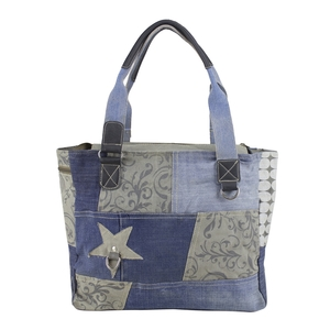 Sunsa Jeans Shopper Patchwork (recycled) - Sunsa