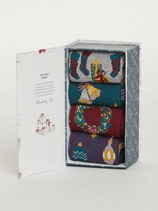 Weihnachten 4er Pack Socken Box - Christmas Eve Sock Box - weihnachtlich - Thought