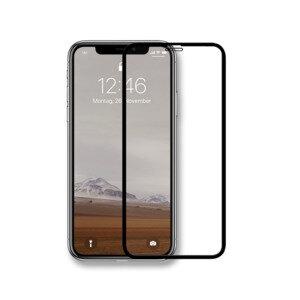Panzerglas Premium transparenter Schutz für das iPhone mit schwarzem Rand  - Woodcessories