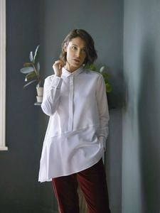 Weiße Bluse - Alida Shirt - Thought