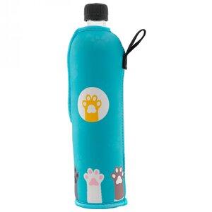 Glasflasche mit Neoprenbezug Pfote 500 ml - Dora