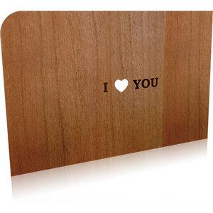 Grußkarte 'I LOVE YOU' - holzpost
