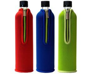 Doras 0,5 l Trinkflasche aus Glas - verschiedene Farben - Dora