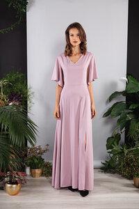 Langes Kleid, Maxikleid mit Ärmeln in Rosa Viskose - SinWeaver alternative fashion