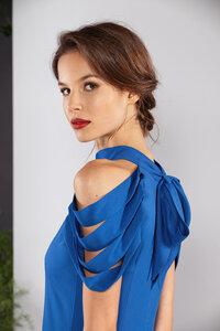 Langes Kleid, Abendkleid gerade ärmellos mit Schleife - SinWeaver alternative fashion