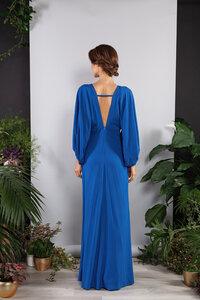 Langes Kleid, Abendkleid rückenfrei weite Ärmel - SinWeaver alternative fashion