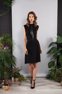 Kurzes Kleid, Abendkleid knielang schwarz Tencel - SinWeaver alternative fashion