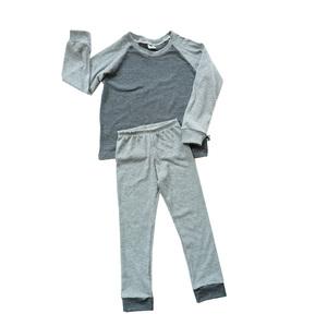 Kinder Ringel Jersey Schlafanzug Bio Baumwolle navy weiß  - betus