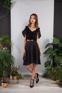 Kurzes Kleid, Abendkleid schwarz Spitze Oberteil und Rock teilbar - SinWeaver alternative fashion