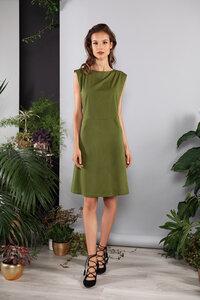 Kurzes Kleid ausgestellt mit Taschen schlicht - SinWeaver alternative fashion
