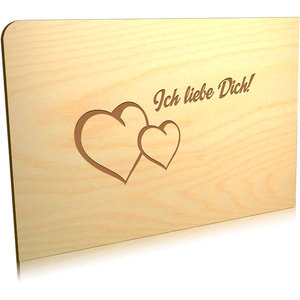Postkarte 'Ich liebe Dich' - holzpost