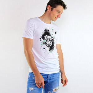 Shirt The Wolf aus Biobaumwolle Weiß - Gary Mash