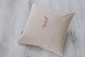 """Kissenbezug """"Blume"""" handbedruckt - luscinia"""