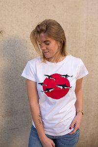 Sharks Haie Organic Women Shirt _ white / ILK02 - ilovemixtapes