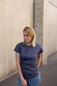 Papierhafen Organic Women Shirt _ charcoal grau / ILK02 - ilovemixtapes