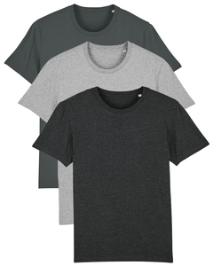 3er Pack Basic Creator T-Shirt Herren Different Colors - What about Tee