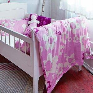 Kinderbettwäsche blume rosa für Wiege und Kleinkindbett - ingegerd