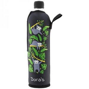 Trinkflasche aus Glas 500 ml Neoprenbezug - Dora