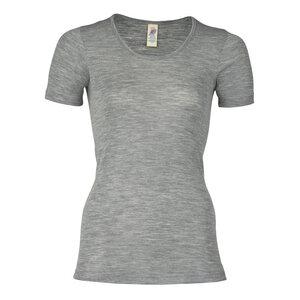 Damen Unterhemd Kurzarm Bio-Schurwolle/Seide - Engel natur