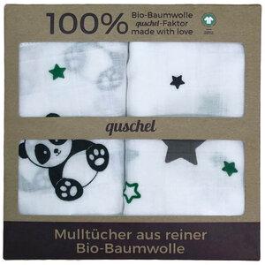 Set Mulltücher/Mullwindeln/Spucktücher 65x65 cm aus 100% Bio-Baumwolle - quschel®