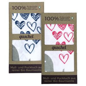 Pucktuch/Puckdecke/Spucktuch 120x120 cm aus 100% Bio-Baumwolle - quschel®