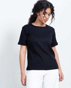 T-Shirt BOY schwarz gerippt - JAN N JUNE