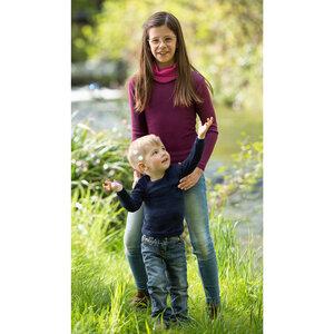 Kinder Schlauchschal Bio-Wolle/Seide - Engel natur