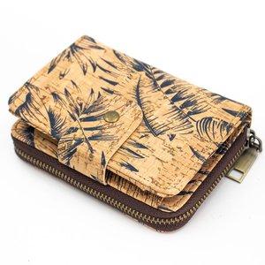 Damen Kork Portemonnaie, vegan, mit Reißverschluss - kippie berlin
