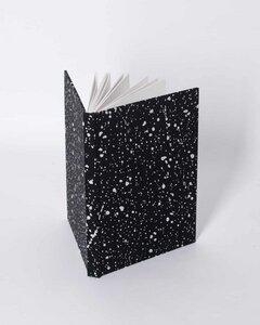 Notizbuch schwarz stardust print - JAN N JUNE