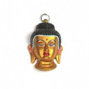 Buddha Maske goldfarben - Just Be