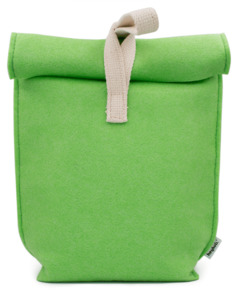 Lunchbag, Pausenbrot Tüte aus veganem Upcycling-Filz Isoliert - heyholi