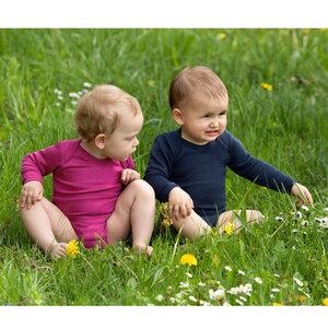 Baby / Kinder Body Langarm Bio-Schurwolle/Seide - Engel natur