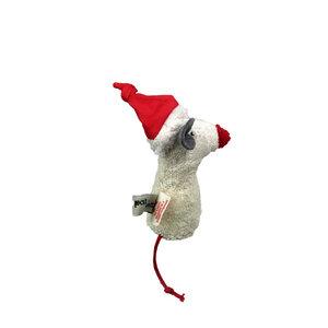 """Kuscheltier Greifling mit Rassel """"Weihnachtsmaus"""" , 100 % Baumwolle-kbA - PAT & PATTY"""