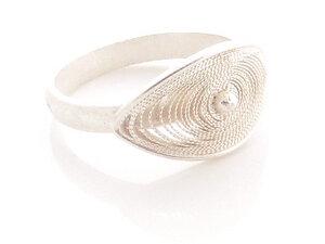 Ring großes Oval Silber - Filigrana Schmuck