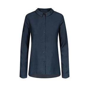 Lyocell (TENCEL) Blouse Ladies Navy - bleed